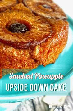 This recipe was originally developed for my cookbook. Even though my cookbook had a healthy spin with not junk ingredients, this smoked pineapple upside down cake packs all the flavor, with no junk ingredients or excess sugar. If you like regular pineapple upside down cake, you'll LOVE the flavorful addition of smoked pineapple that gives this cake the added depth of smoke flavor.