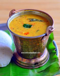 Hotel Annapoorna Sambar Recipe for idli, dosa, pongal and rice with step by step photos and Video ! Indian Food Recipes, Vegetarian Recipes, Ethnic Recipes, Idli Sambar, Clarified Butter, Indian Curry, Coimbatore, Curry Leaves, Tamarind
