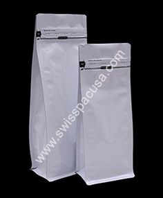Our 4 oz SHINY WHITE Flat Bottom Bag with TEAR zipper  is highly resistant to moisture and oxygen because they are laminated with metalized or aluminium foil layers.