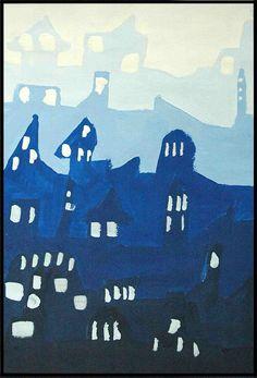 monochromatic landscape paintings.arteascuola
