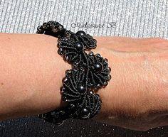 Sutasz-moje hobby: Czarne muszelki z hematytami