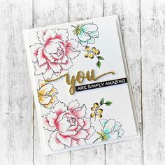 You just can't go wrong with #peonybouquet stamp set from @altenewllc ❤ The inks…