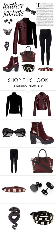 """""""Leather Jackets"""" by blakcirclegirl ❤ liked on Polyvore featuring MCM, La Perla, Steve Madden, J Brand, Givenchy, Valentino, Lydia Courteille, Plukka and leatherjackets"""