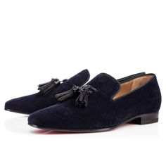DADA MULTI,NAVY/BLACK,Cotton,Men Shoes,Louboutin.
