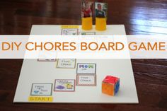 DIY Chore board games...fun and simple!!