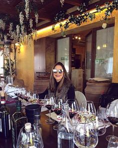 Thank you pretty lady for having wine tasting with us! #fun #winetasting #winelovers #Tuscany #italy #winery  #cellar #friends #friendship