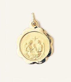 medallions jewelry yellow baptism gold childrens k medal medallion necklace jerezwine chain