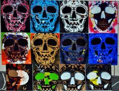 Day of the Dead Meets Pop Art. Great activity for printing. Do with advance group. Pop art prints