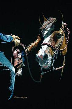 Karen Cooper: Positive Painting Utilizes Negative Space - Spring 2007 Issue of Horses in Art Magazine