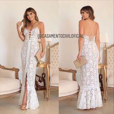 Vestido para casamento civil da Villa Noiva - instagram @casamentociviloficial