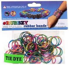 Tie Dye Rubbzy Loose Rubber Bands, 2015 Amazon Top Rated Shaped Rubber Wristbands #Toy