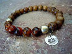 Mala Bracelet / Wrist Mala / Yoga Bracelet / Yoga by Syrena56, $27.00