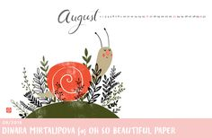 August Wallpaper / Dinara Mirtalipova for Oh So Beautiful Paper