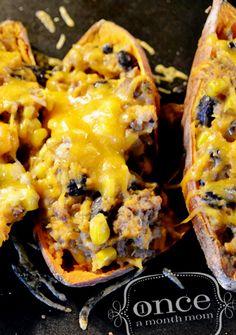 Mexican Sweet Potato Skins - Freezer meals, oamc,
