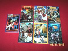 7 Wishbone Dog Books~RL 5~Ages 8-12~Huckleberry~Wolf~Adventures~Mysteries