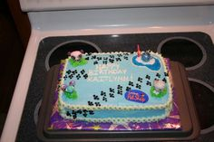 Cake for my niece's 5th birthday! All buttercream except the...