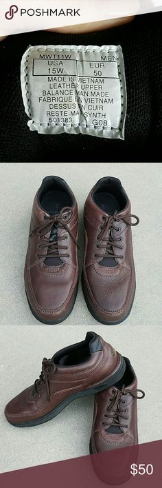 Men's Shoes Only worn a few times. Rockport Dark Brown shoe. Size 15W Rockport Shoes
