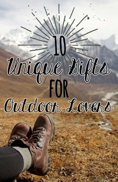 For finding a caping or hiking gift that's practical and also fun! See our list of 10 unique gifts for outdoor lovers. Christmas Gifts For Men, Best Gifts For Men, Unique Gifts, Hiking Gifts, Camping Gifts, Outdoor Couple, Outdoor Woman, Outdoor Gifts, Outdoor Gear