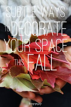 Subtle & inexpensive ways to decorate your space for fall! | Apartment life, dorm life
