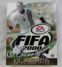 Rare EA Sports FIFA 2000 MLS Soccer Football PC CD Rom Game  Sealed Box NIB NEW Fifa, Mls Soccer, Classic Video Games, Ea Sports, School Games, Game Sales, Major League, Seal, Football
