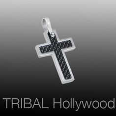 The HALLOWED CROSS is a small stainless steel cross with a deep black carbon fiber center.  Just like you, there's more to the Hallowed Cross pendant than meets the eye.
