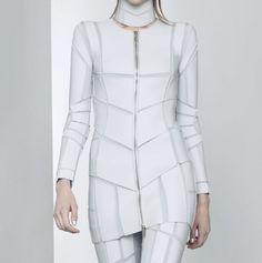Super future, future dress, future fashion, white dress, white clothes, model, girl, girl white, wtite clothing, futuristic clothes, future ...