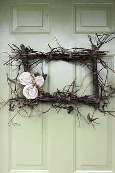 Wreath made of twigs