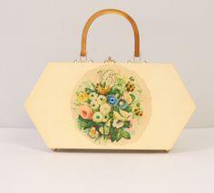 1960's wooden handbag.