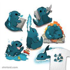 """Cutezilla"" by Cute Godzilla All Godzilla Monsters, Godzilla Comics, Godzilla Godzilla, Cute Animal Drawings Kawaii, Mythical Creatures Art, Cute Dragons, Cute Dinosaur, Cute Doodles, Cute Comics"