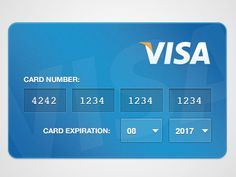 Dribbble - Credit Card input by Pingdom Ui design News Web Design, App Ui Design, User Interface Design, Mobile Credit Card, Visa Card Numbers, Credit Card Hacks, Card Ui, Credit Card Design, Ui Patterns