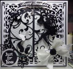 beautiful monotone tonic dies fairy birthday card Fairy Birthday, Birthday Woman, Abc Cards, Tonic Cards, Studio Cards, Paper Crafts, Diy Crafts, Embossed Cards, Die Cut Cards