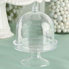 65 Perfectly Plain Mini Cake Stand Plastic Box Wedding Shower Favors #Fashioncraft #BridalShowers