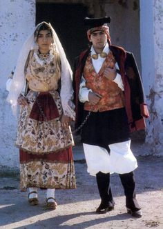 Sardinia, ItalyNotice the traditional chain worn by married couples.