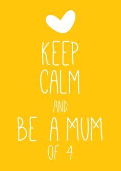 Zwanger van de 4e! Ontwerp voor www.hipenhot.nl door www.nellekewouters.nl | Free Printable | Keep Calm | pregnancy | quote