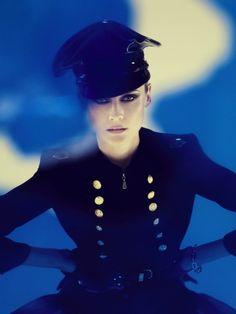 Diane Kruger for Interview Magazine - Early Halloween NYC hat, Sharon Wauchob gloves