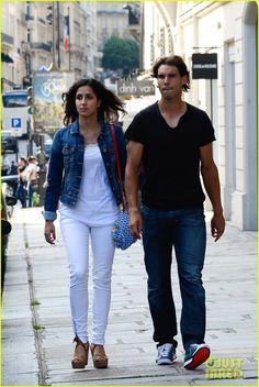 Rafael Nadal and his girlfriend Maria Francisca Perello in Paris