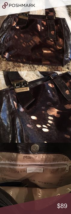 Pony hair and leather handbag! Like new! This is a super unique well cared for bag! Amazing details clean inside and out! Italian made, pony hair and leather bag, brass hardware! FLAWLESS ❤️👜 Bags Shoulder Bags