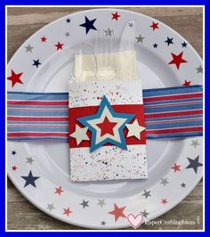 These cute 4th of July Silverware Holders will add a fun patriotic flair to your table setting. Learn how to make them here.