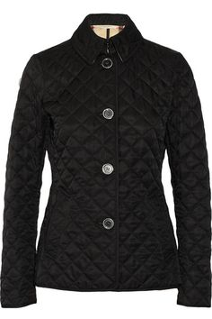 Black quilted polyester Button fastenings through front 100% polyester; wadding: 100% polyester; lining: 50% polyester, 50% cotton Dry clean