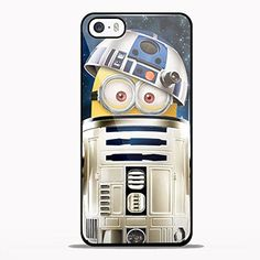 Despicable Me Minions Inside Star Wars R2d2 Tv Design for Samsung Galaxy and Iphone Case (iPhone 5C black)