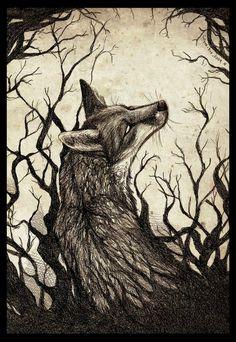 Forsaken by Culpeo-Fox on DeviantArt Fuchs Illustration, Art And Illustration, Illustrations, Animal Drawings, Cool Drawings, Wolf Hybrid, Fuchs Tattoo, Fantastic Fox, Fox Drawing