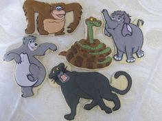Jungle Book Decorated Sugar Cookie Collection by MartaIngros, $30.00