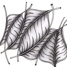 a little lime: Zentangle Tile - Finery Focus