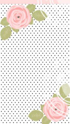 roses and polka dots S8 Wallpaper, Phone Wallpaper Design, Wallpaper For Your Phone, Pastel Wallpaper, Cellphone Wallpaper, Flower Wallpaper, Wallpaper Backgrounds, Wallpaper Designs, Wallpaper Quotes