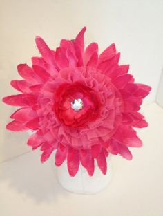 HandMade Jumbo Flower Mum Pink or Purple by FancyGirlBoutiqueNYC, $12.00