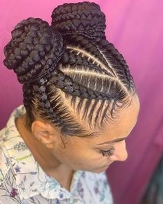 Braided Hairstyles For Black Women, African Braids Hairstyles, Braid Hairstyles, 2 Buns Hairstyle, Ladies Hairstyles, Work Hairstyles, Protective Hairstyles, Wedding Hairstyles, Natural Hair Braids