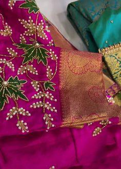 Black Blouse Designs, Hand Work Blouse Design, Bridal Blouse Designs, Saree Blouse Designs, Hand Embroidery Tutorial, Hand Embroidery Designs, Designer Blouse Patterns, Hand Designs, Saree Gown