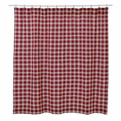 Breckenridge Shower Curtain Burlap Plaid Unlined 72x72