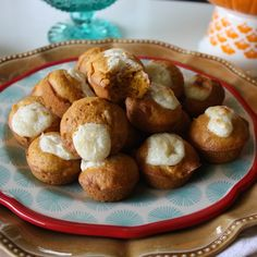 Pop-in-your-mouth mini-pumpkin muffin!
