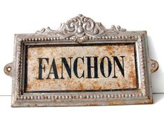 Antique french HORSE STABLE name plate in cast iron.